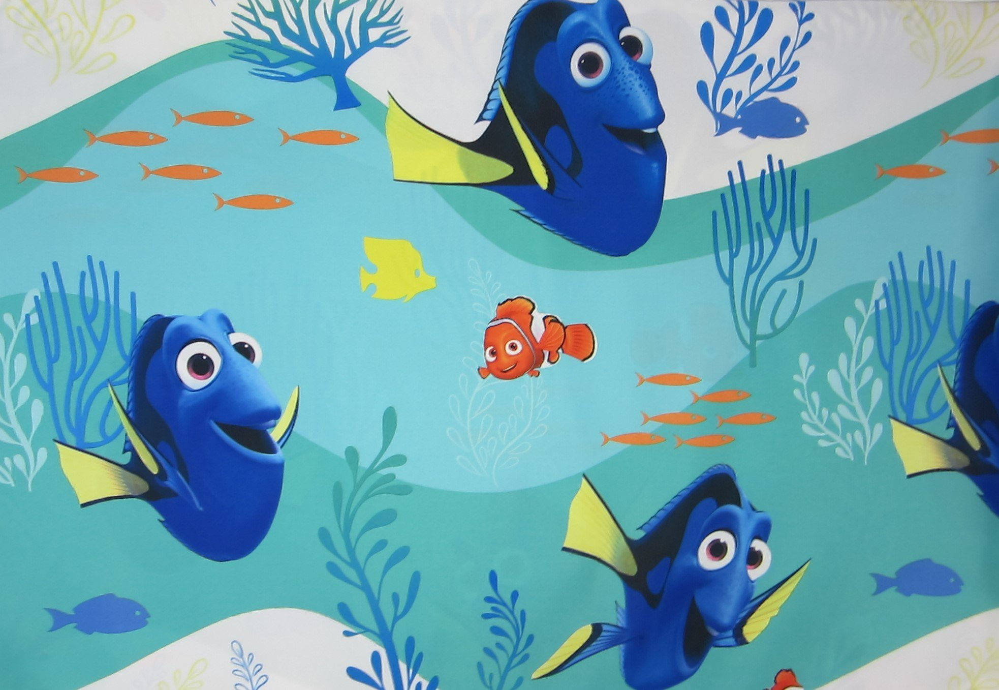 Finding DORY Stingray Friends (FLAT SHEET ONLY) Size TWIN Boys Girls Kids Bedding
