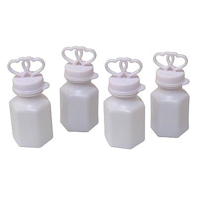 SNInc. Double Heart Bubbles Pack Of 24 Wedding Bubble Bottles: Toys & Games