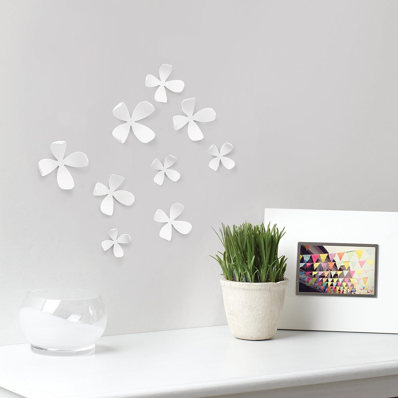 Set of 10 Umbra WallFlower Adhesive Wall Decor