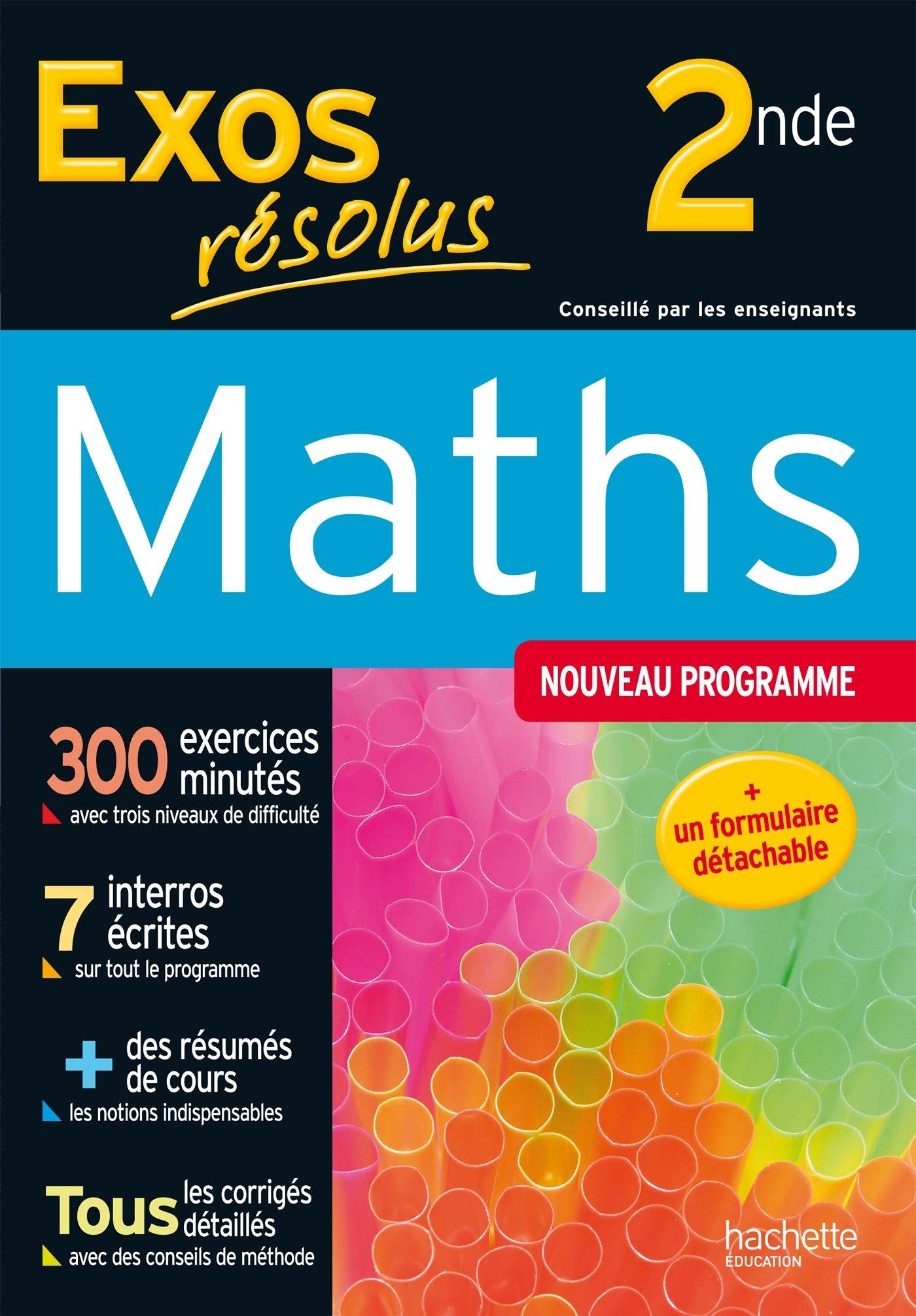 Exos Resolus Maths 2de Amazon Fr Misset Lydia Belarbi Marie Andree Livres
