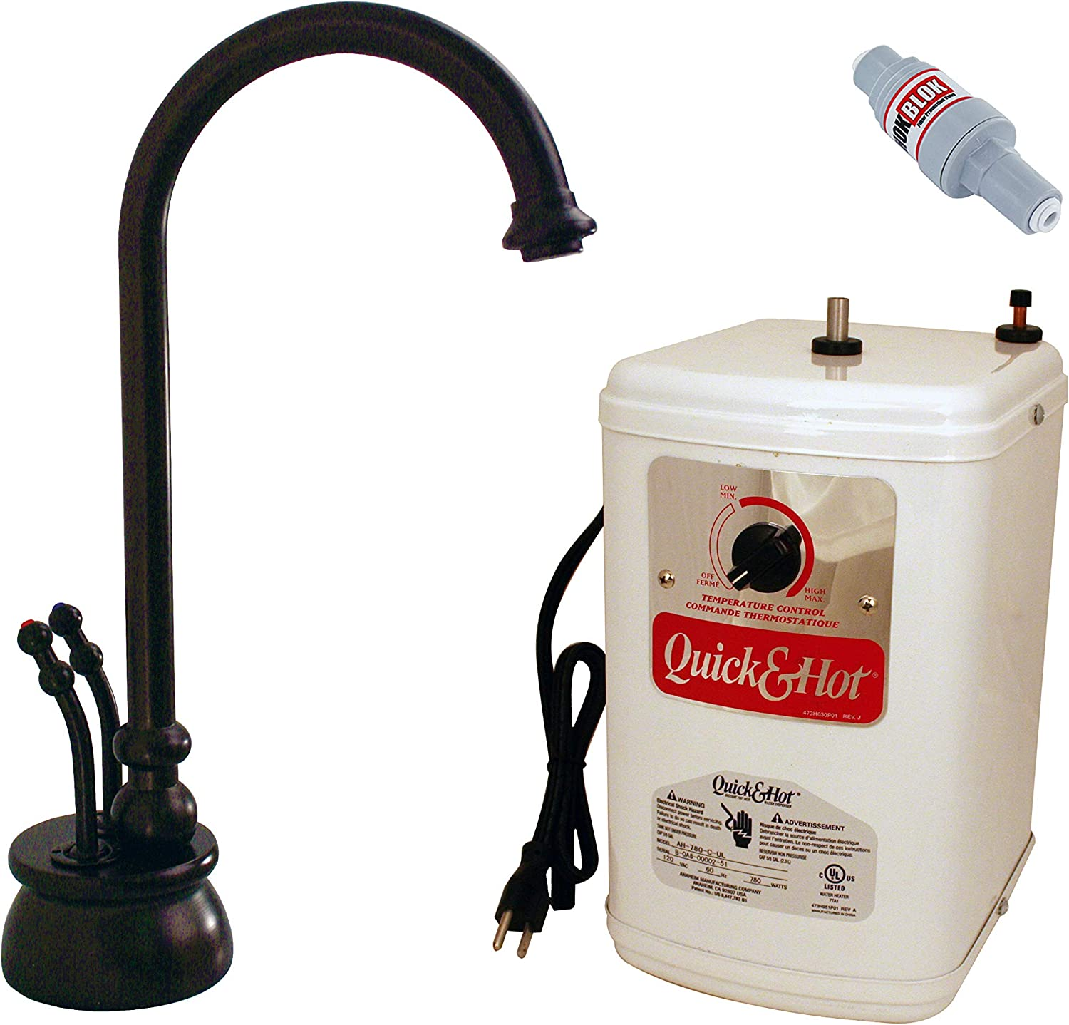 Westbrass D262H-12 Hot and Cold water dispenser, Oil Rubbed Bronze - -