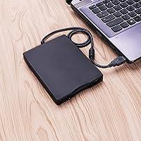 "Prime Deals 3.5"" USB External Floppy Disk Drive Portable 1.44 MB FDD PC Windows 2000/XP/Vista/7/8/10 Mac,No Extra Driver Required,Plug Play (Black)"