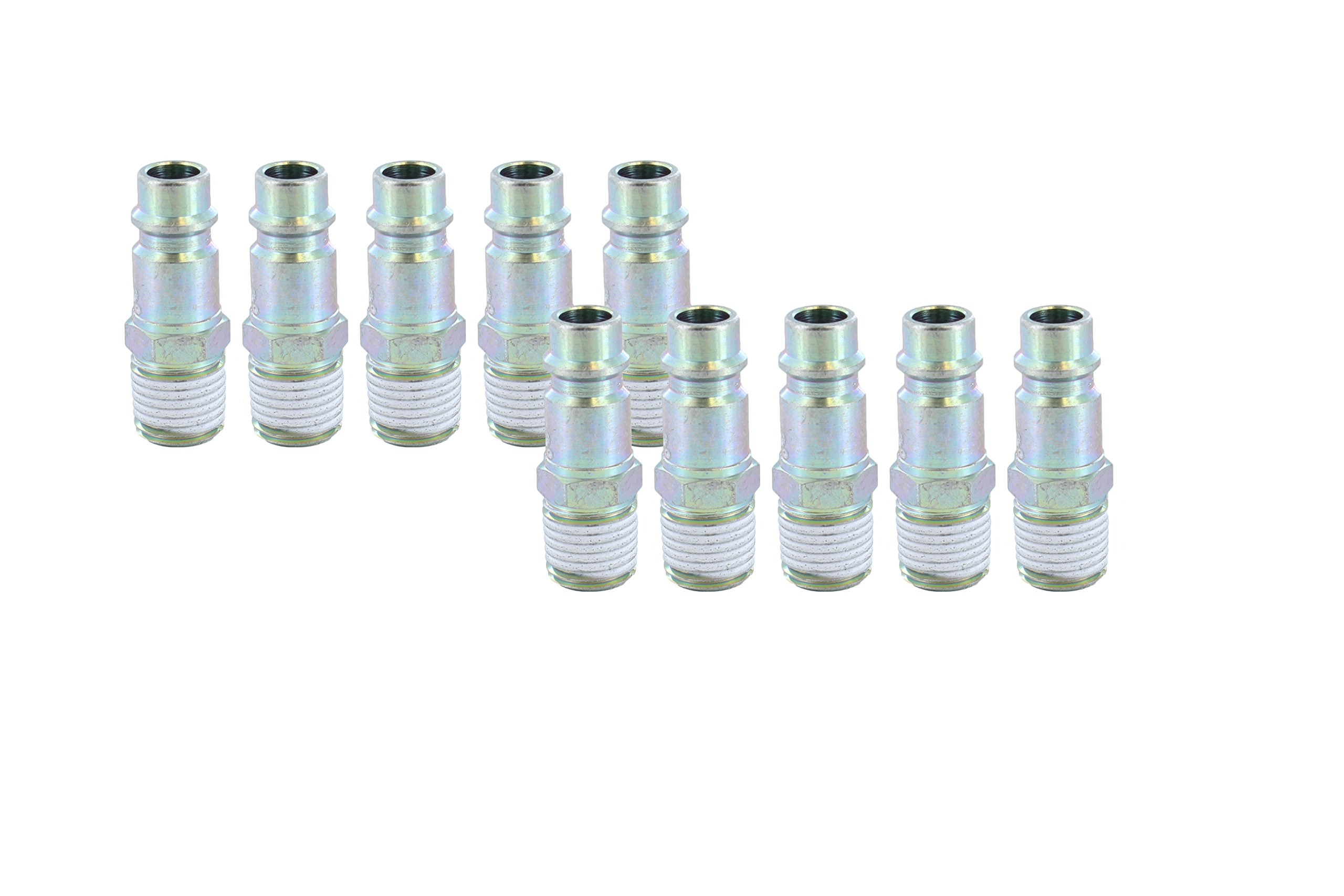 "Prevost ERP 076251 (10 Pack) 1/4"" Thread Male NPT 3/8"" Body Size High Flow Safety Air Plug"