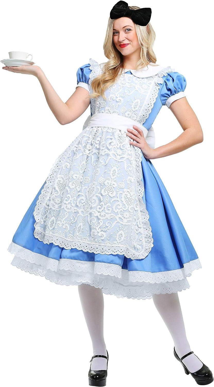 Brand New Classic Alice in Wonderland Deluxe Adult Costume