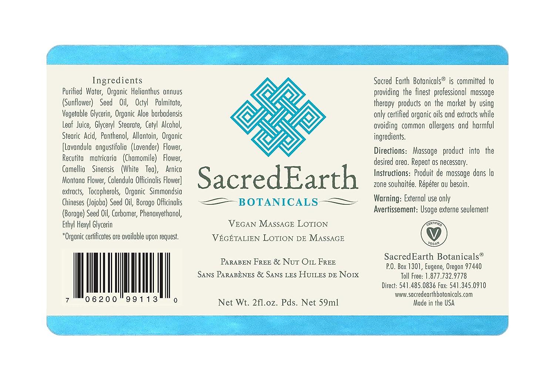 Sacred Earth Botanicals Massage Lotion 2oz (2-Pack) : Beauty