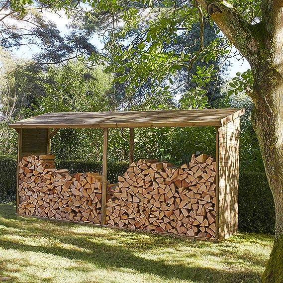 Madeira - Cobertizo de Madera para leña, tamaño Grande, 10 Unidades: Amazon.es: Jardín