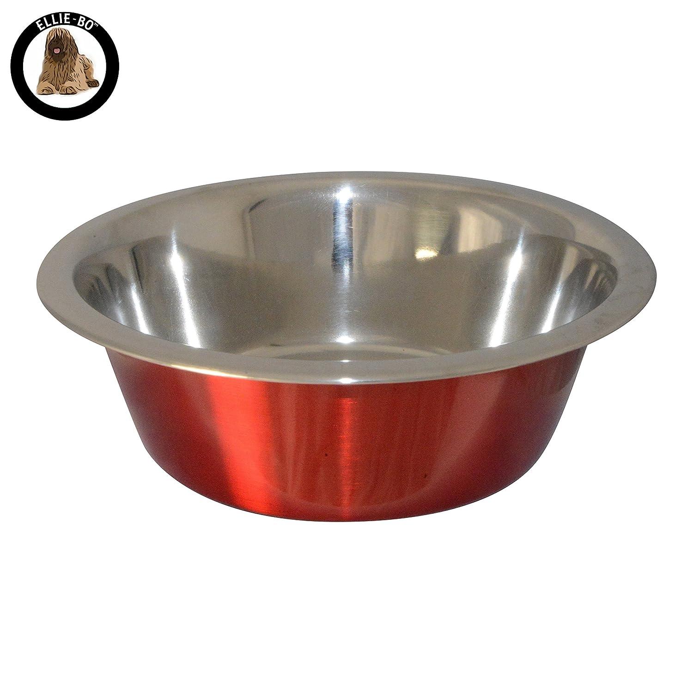Ellie-Bo Décoration pour nourriture pour chien ou pour chat et d'eau Bols en 6tailles et 4couleurs EB-BWLREG020BLU