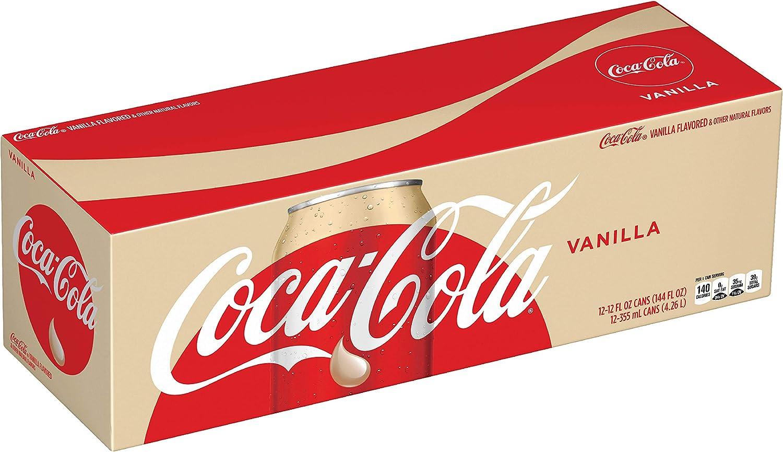 Coca Cola Refresco con gas, Sabor Vainilla - Paquete de 12 x 355 ...