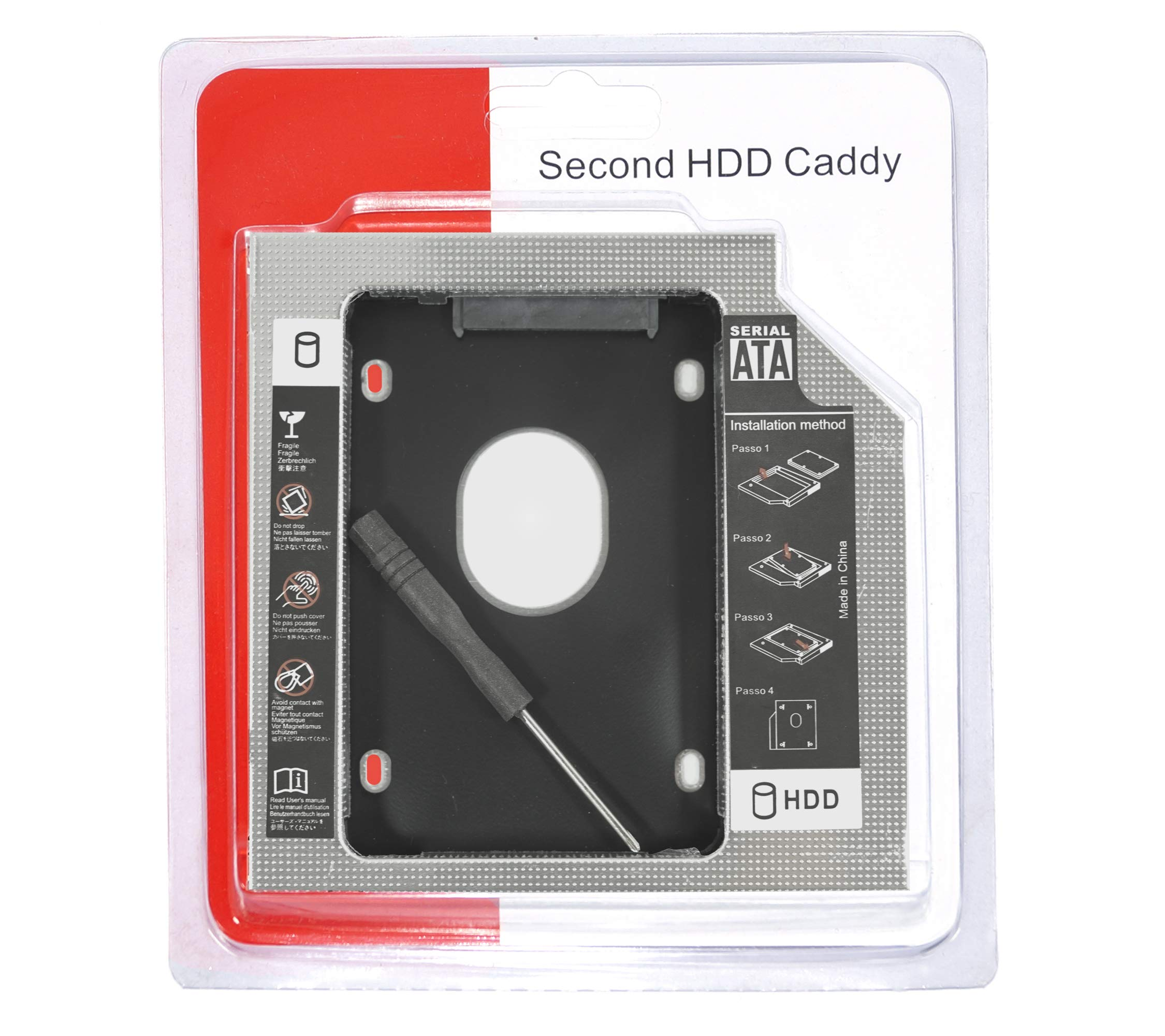 SEPAL 9.5 mm Universal 2nd Bay SATA Hard Drive Caddy for CD DVD-ROM Drive Slot product image