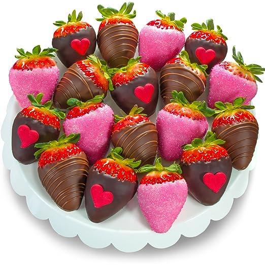 3 love bites chocolate covered strawberries