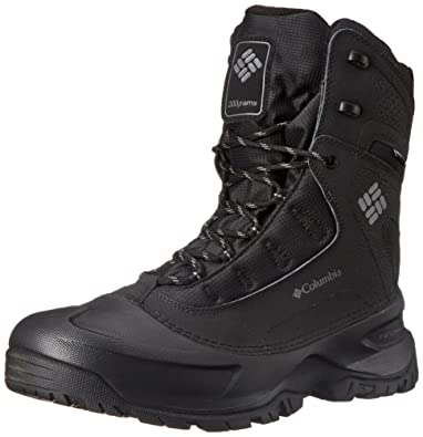 Columbia Mens Snowblade Plus Waterproof Winter Boot (Black/Charcoal, 7)