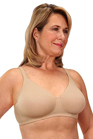 79b2660b56 Clasique Mastectomy Seamless Sleek Comfort Cotton Bra at Amazon ...