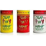 Slap Ya Mama All Natural Cajun Seasoning from Louisiana Spice Variety Pack, 8 Ounce Cans, 1 Cajun, 1 Cajun Hot, 1 White Peppe