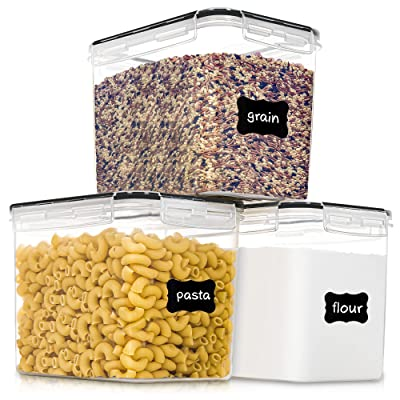 Kitchen Canister Set Stainless Steel Dry Food Storage Container Lids Flour Sugar