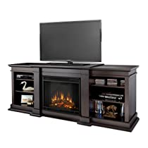 Real Flame Fresno G1200-X-DW Entertainment Unit with Electric Fireplace Dark Walnut