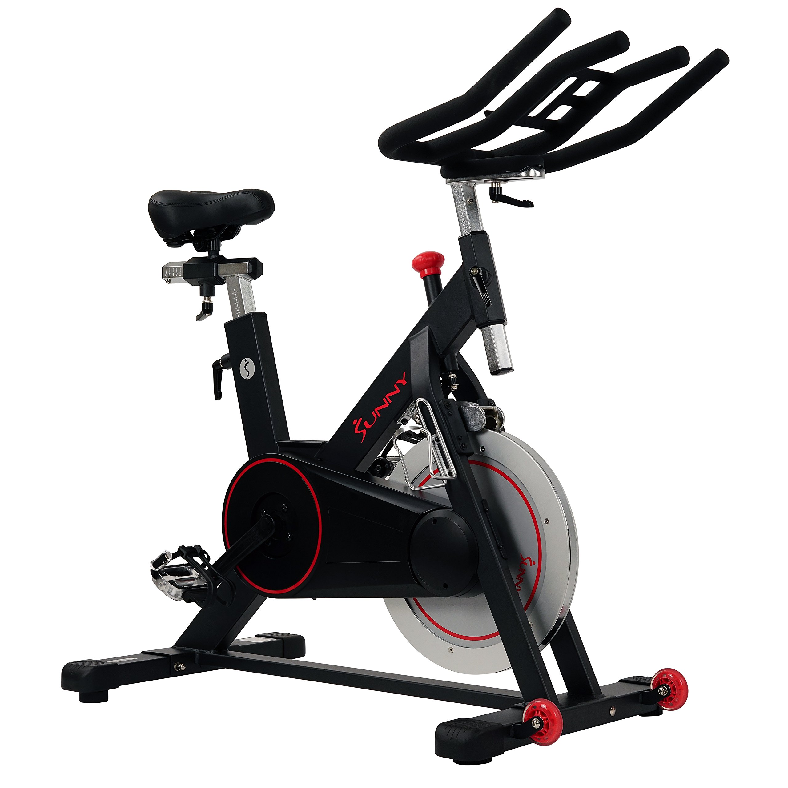Sunny Health & Fitness Magnetic Belt Drive Indoor Cycling Bike with High Weight Capacity and Tablet Holder - SF-B1805 by Sunny Health & Fitness (Image #1)