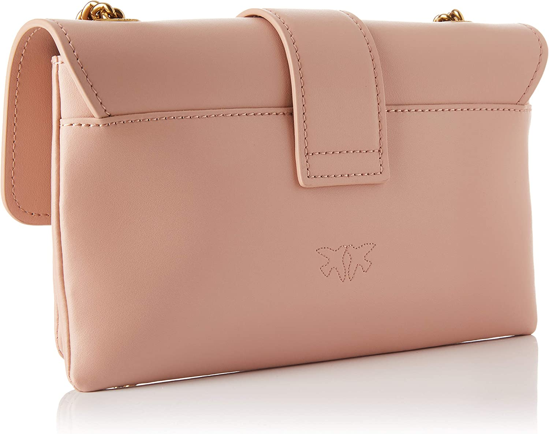 Pinko 1p21sk_y6jc, Love Mini Soft Simply CL VITEL Donna, Taglia unica Q19_light Pink