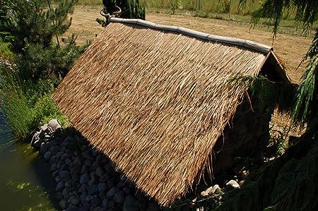Lote de 20 panels natural para tejado de palma (115 cm) tejado exótico, refugio jardín, gazebo, sombrilla pergola (20x12111)
