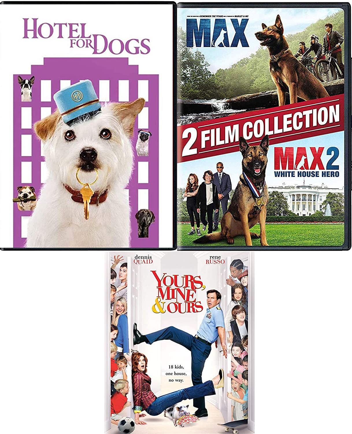 Amazon Com Barking Dogs 2 Dvd Hotel For Dogs Devoted Max The Dog White House Hero Favorite Canine Ours Yours Mine Family Comedy Movies Tv