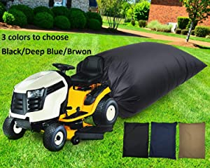 STYLEZONE Lawn Tractor Leaf Bag with Zipper Grass Bagger Deep Blue