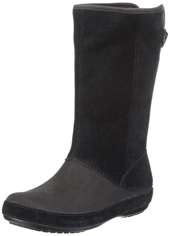 Crocs Berryessa Tall Suede, Mujer Bota, Negro (Black/Black), 34-35 EU
