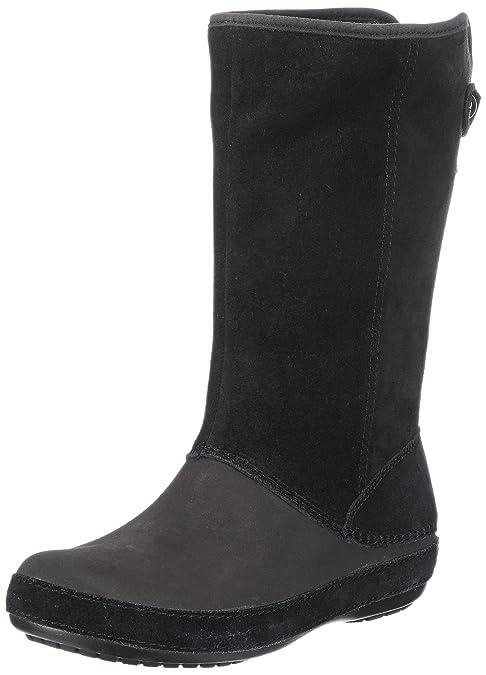 Modessa Suede Button, Mujer Bota, Negro (Black/Black), 36-37 EU Crocs