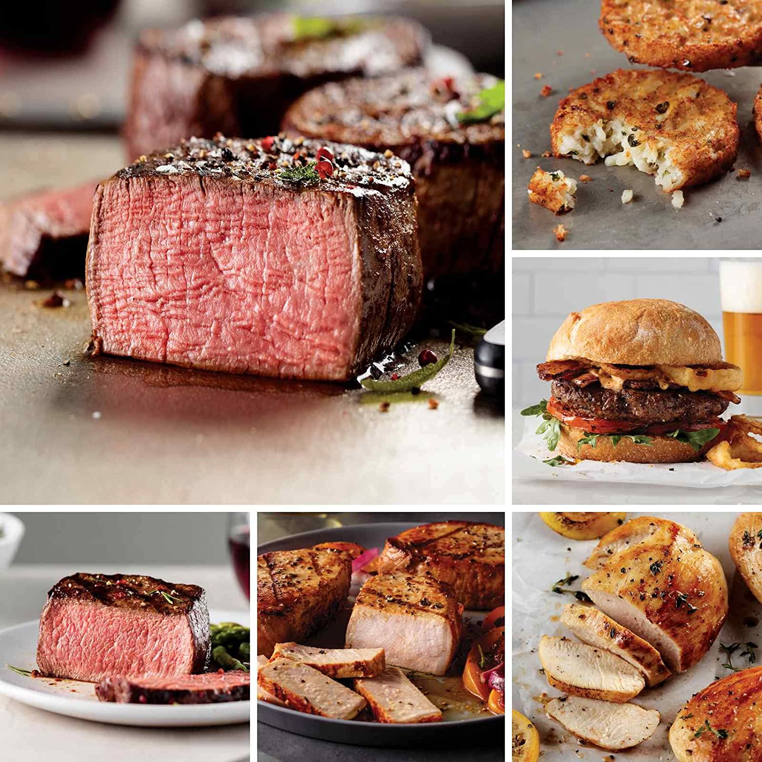 Omaha Steaks Treasures of the Grill Gift (24-Piece with Filet Mignons, Top Sirloins, Boneless Pork Chops, Chicken Breasts, Burgers, Steakhouse Hash Browns)