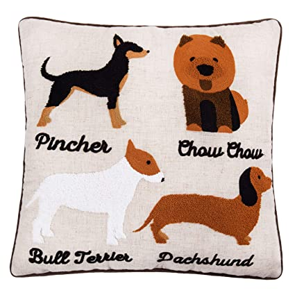 "2Pcs Best Dog Lover Gifts Cotton Linen Throw Pillow Case Cushion Cover 18/""x18/"""