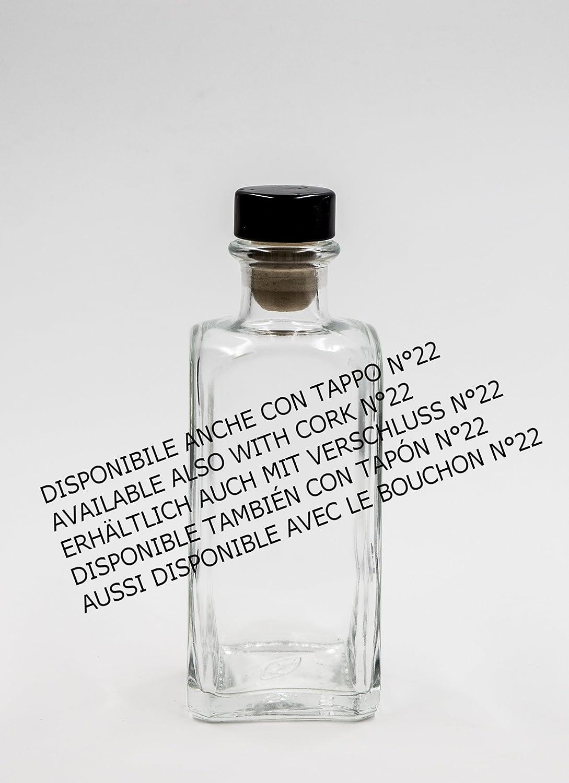 Bottiglia Antigua Quadra 200 ml vetro bianco tappo n/°45 nr 1 pezzo art