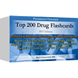 PharmacyTrainer Top 200 Drug Flash Cards - 2017 Edition