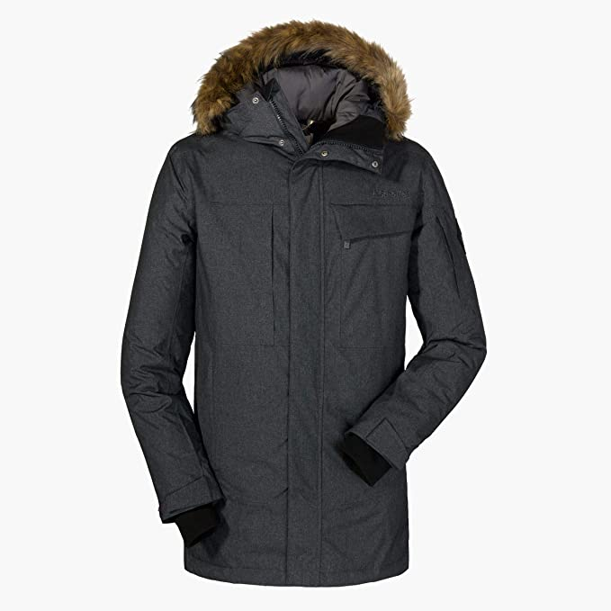 Schöffel Down Parka Storm Range IM , wetterfeste und warme Daunenjacke für Herren, atmungsaktive und leichte Winterjacke Herren