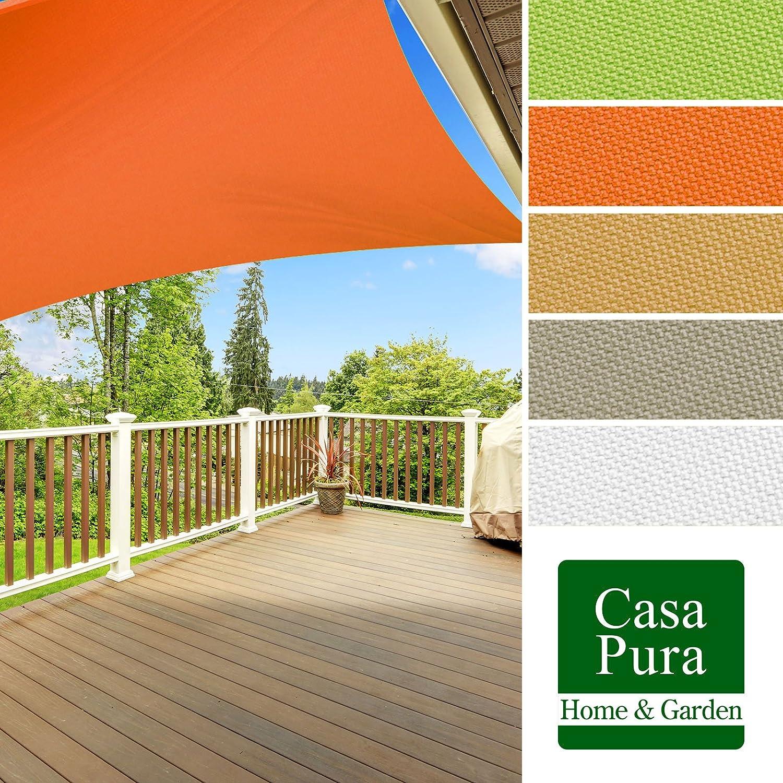 Voile d'ombrage casa pura® en coloris divers   matière imperméable -  lavable en machine   taille 5x7m   densité 160g par m²   blanc: Amazon.fr:  Jardin
