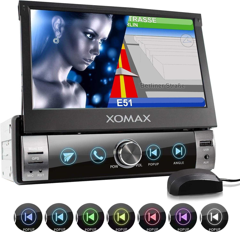 XOMAX XM-VN764 Radio de Coche I Autoradio con Navegación GPS I Mapas de Europa I Bluetooth Manos Libres I 7