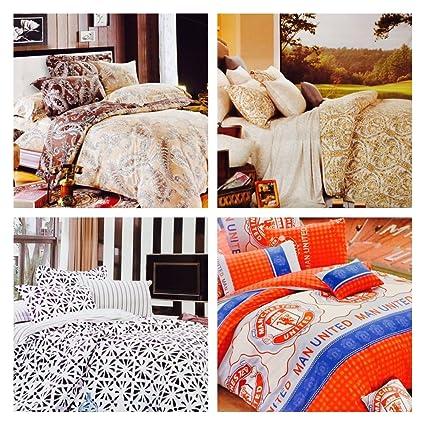 Nankiu0027s Premium Cotton Bedsheet Set Of 4 Bedsheets(4 Queen Size Double  Bedsheet, 8