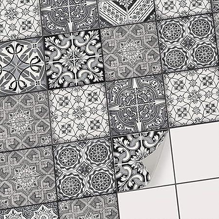 ordre soldes bonne texture Sticker carrelage adhésif Mural Salle de Bain et Cuisine/Sticker  Autocollant Carrelage/Mosaïque carrelage Mural - Carreaux de Ciment  adhesif/Design ...