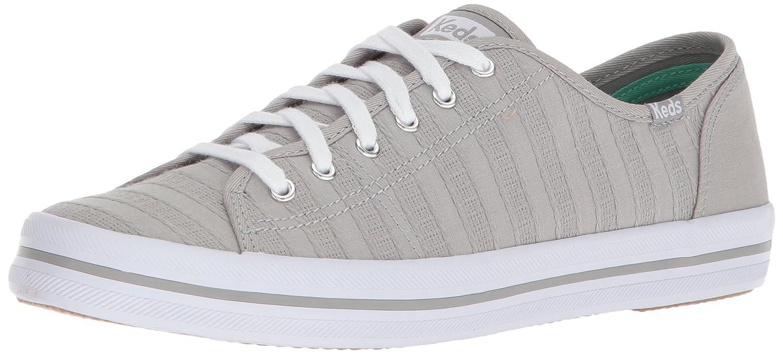 Keds Women's Kickstart Eyelet Stripe Sneaker B072Y8PSYC 8.5 B(M) US|Gray