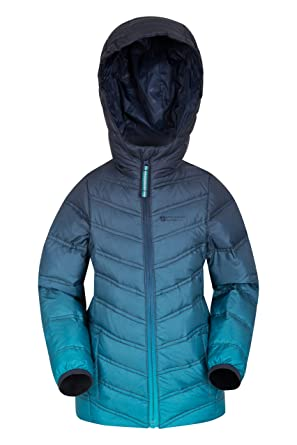 c75903a80b4 Mountain Warehouse Frost Girls Down Padded Jacket - Water-Resistant Fabric,  Lightweight Microfiber Padding