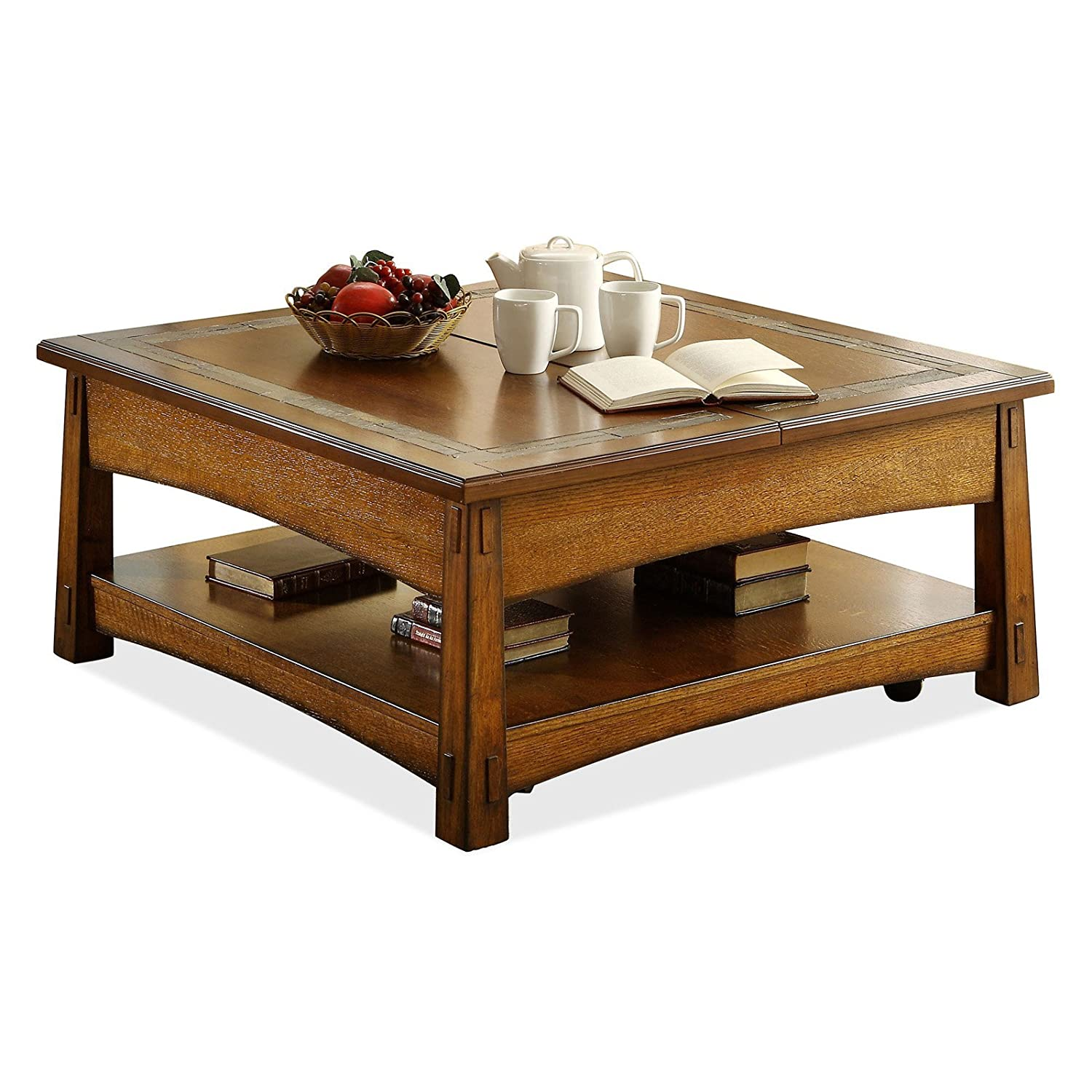 Amazon Square Lift Top Cocktail Table Kitchen & Dining