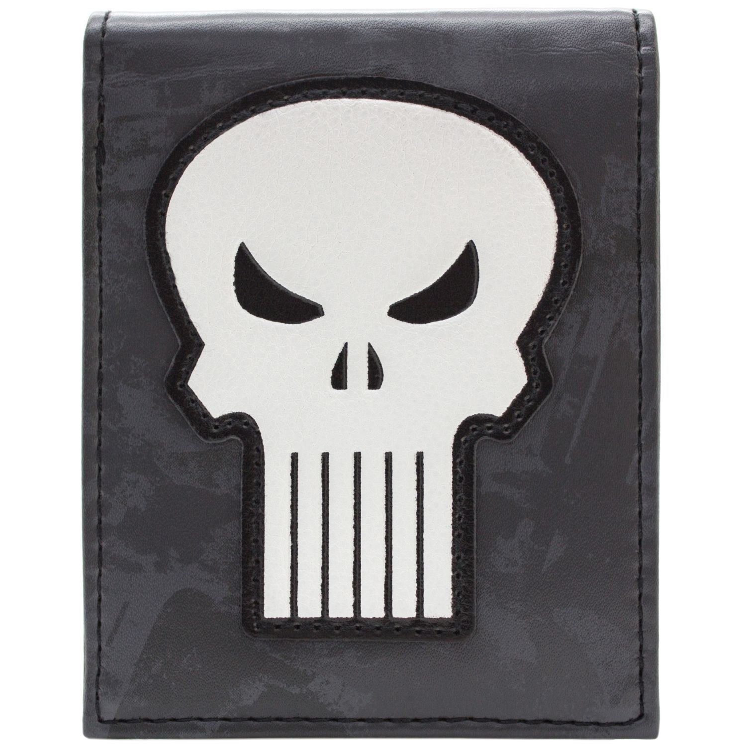 Marvel Punisher Skull White Symbole Gris Portefeuille 28349