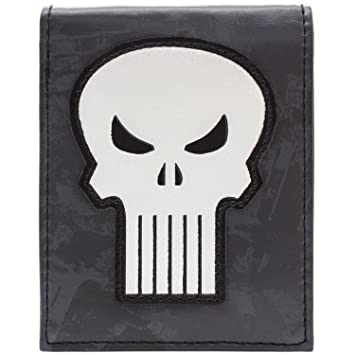 Cartera de Marvel Punisher Símbolo Blanco del cráneo Gris: Amazon.es: Equipaje