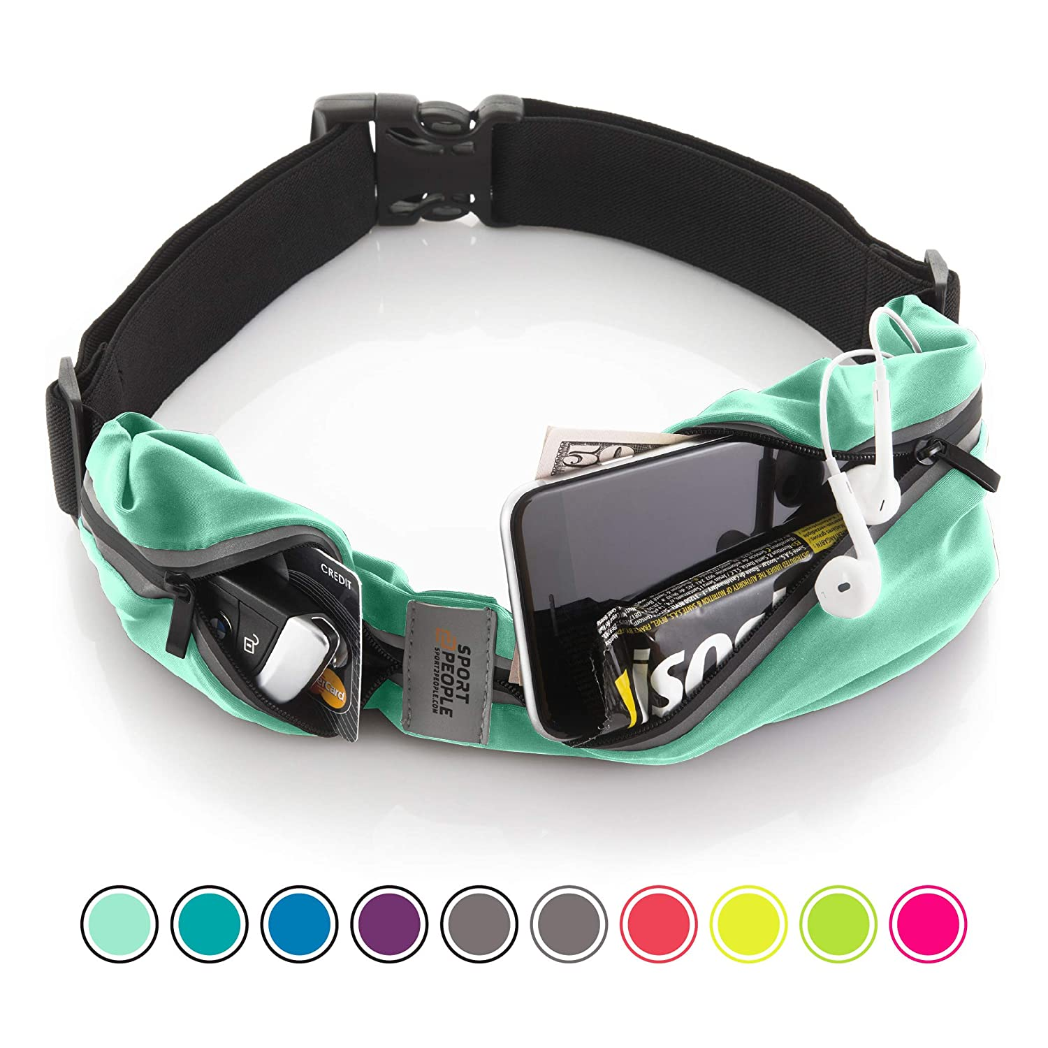 Running Belt USA Patented – iPhone X 6 7 8 Plus Pouch for Runners . Best Fitness Gear for Hands-Free Workout . Freerunning Reflective Waist Pack Phone Holder . Men, Women, Kids Running Accessories Sport2People