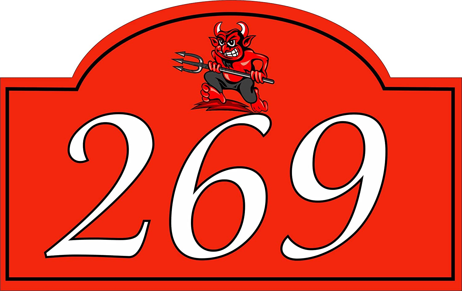 Acrylic master house number plaque 1 5mm aluminium with digital uv print red devil amazon co uk garden outdoors