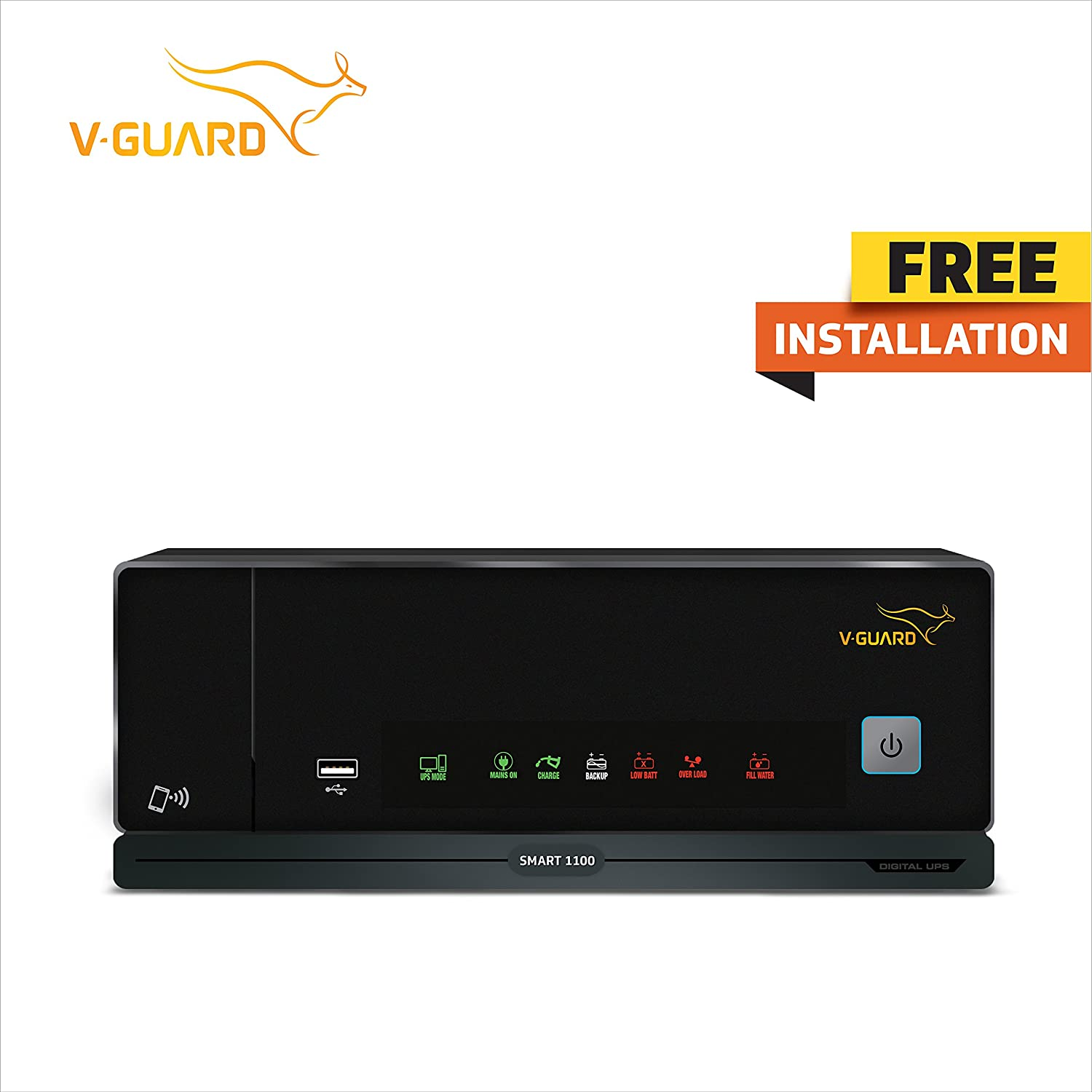 V-Guard ABS Digital UPS Smart 1100 with Mobile Connectivity