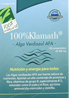 100% natural Alga Verdiazul Klamath Vitaminas - 150 Tabletas