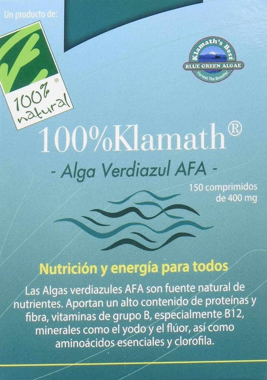 100% natural Alga Verdiazul Klamath Vitaminas - 150 Tabletas: Amazon.es: Salud y cuidado personal