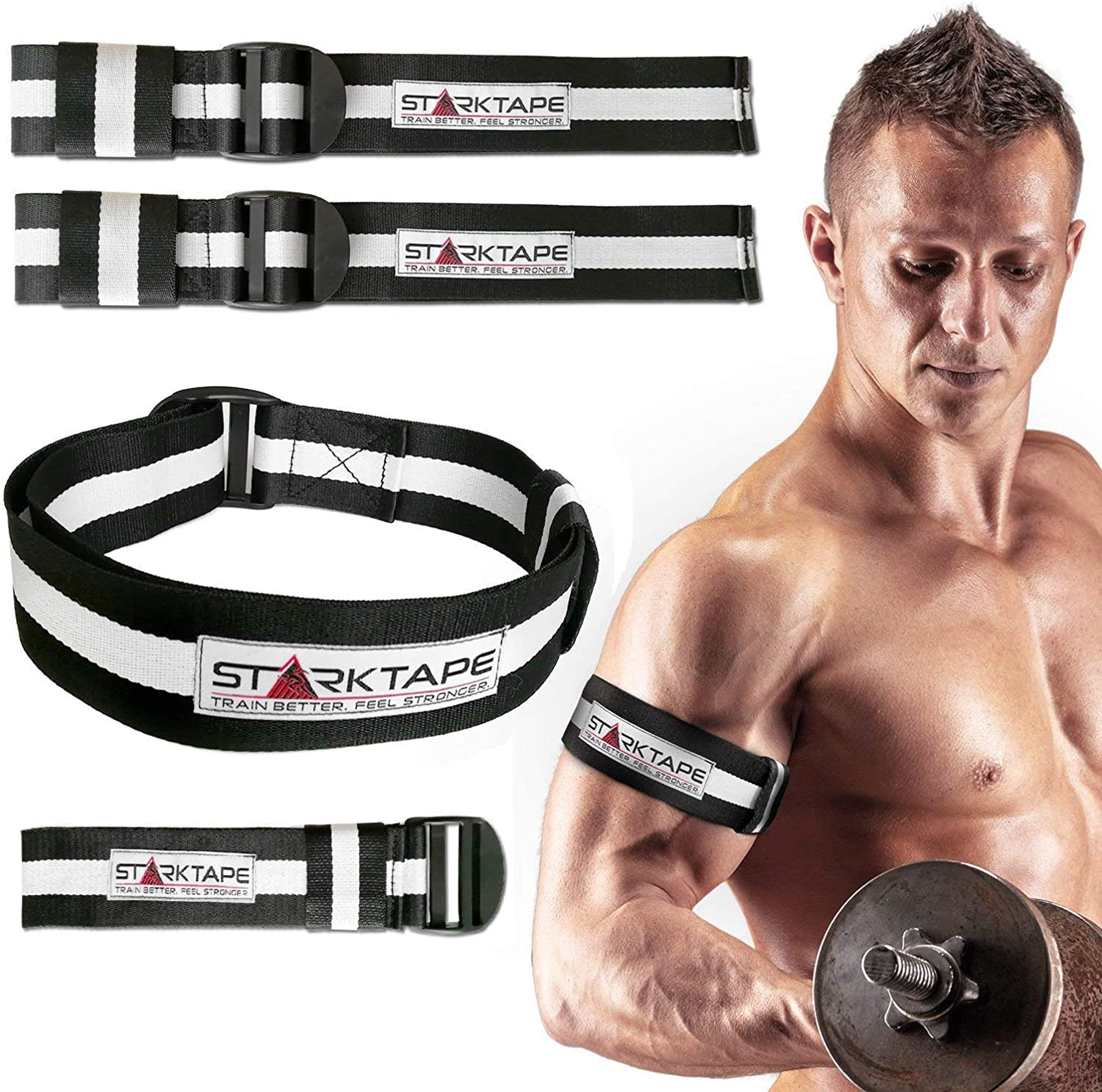 TOP GYM ORANGE BICEP STRAP/'s Max Bicep Blood Flow Restriction Occlusion Bands