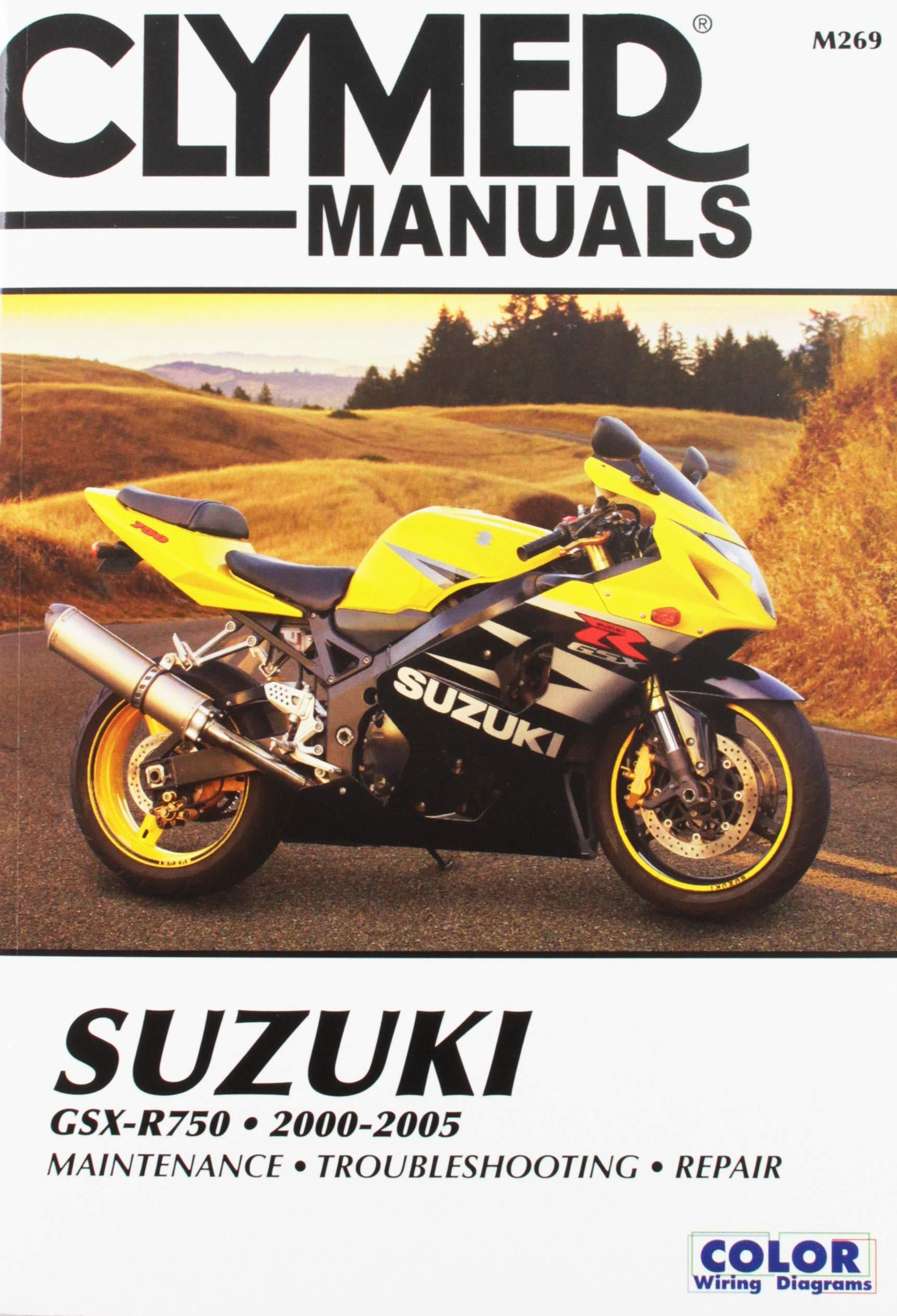 suzuki gsx-r750 2000-2005 (clymer powersport) paperback – october 1, 2017