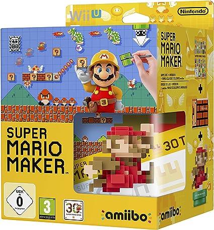 Mario Maker + Artbook + Figura Amiibo Mario 30 Aniversario: Amazon ...
