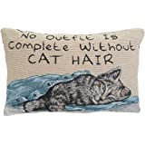 Manual 12.5 x 8.5-Inch Decorative Throw Pillow, Without Cat Hair