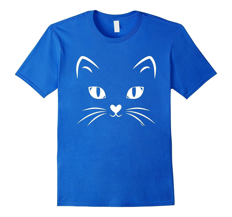 Cat Face, Black Cat, Halloween Costume T-Shirt-Awarplus